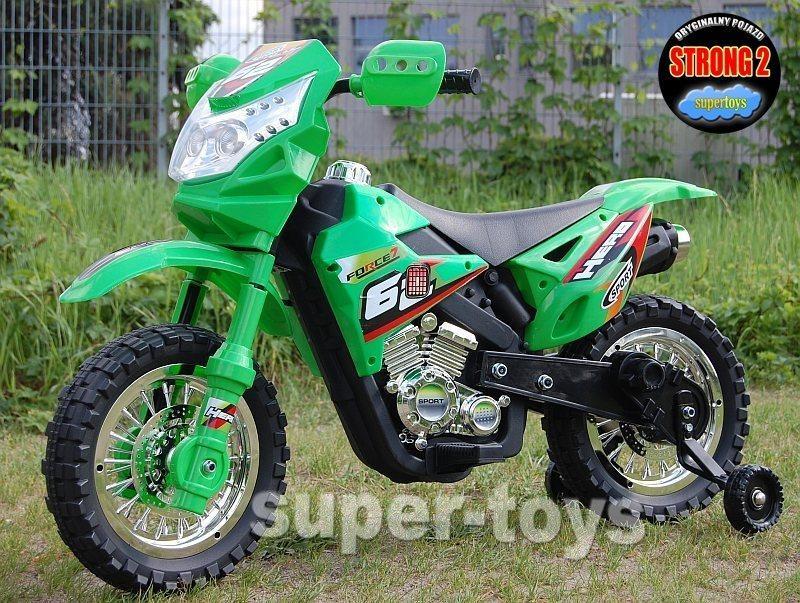 Poważne DUŻY MOTOR CROSS 2 STRONG 2 Z DŹWIĘKAMI I Ś ZP-3999A - Foxmotors.pl NL34